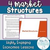 4 Market Structures Economics Lesson! (Distance Learning)