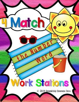 4 Match the Number Word Work Stations