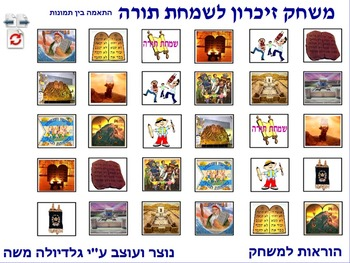 4 Memory Game for Simchat Torah photo to photo Hebrew #2