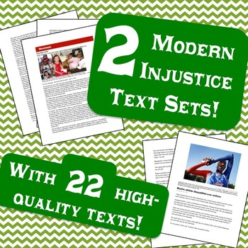 2 Modern Discrimination & Intolerance Text Sets!