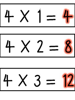 4 Multiples Times Table