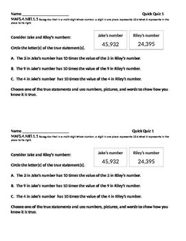 4.NBT.1.1/NBT.A1 Quick Quiz