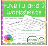 4.NBT.1 & 4.NBT.2 Worksheets - Place Value Understanding