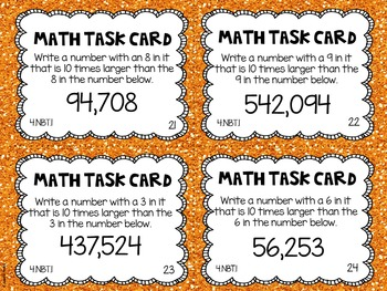 4.NBT.1 4th Grade Math Task Cards