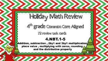 4.NBT. 1-5 Holiday Math Review