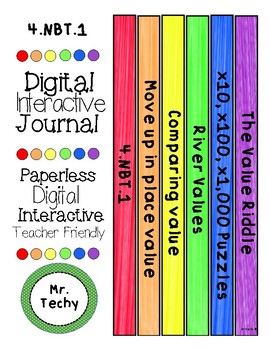 Powers of Ten Digital Interactive notebook for paperless and Google Classrooms