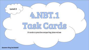 4.NBT.1 Level 2 Task Cards