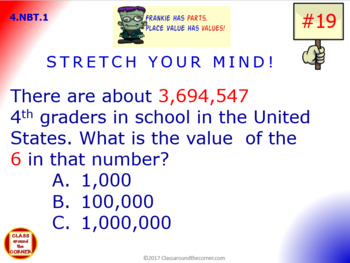 4.NBT.1 Math Animated, Interactive Test Prep: 3 in 1 – Place Value