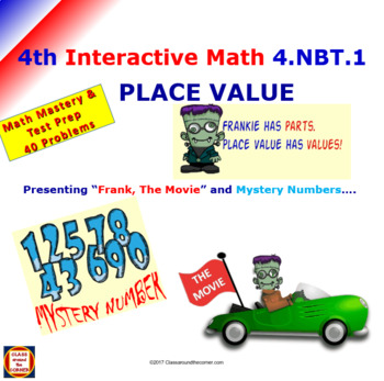 4.NBT.1 Math Interactive Test Prep – 10 times with PLACE VALUE