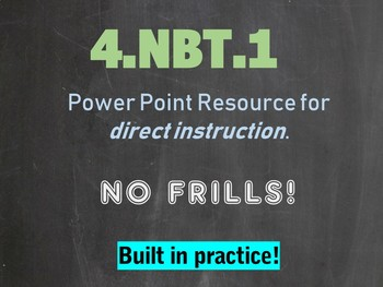 4.NBT.A.1 4th Grade Place Value PowerPoint