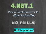 4.NBT.A.1 4th Grade Place Value PowerPoint
