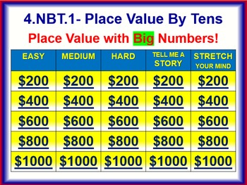 4.NBT.1 THINK ON YOUR FEET MATH! Interactive Test Prep Game—Place Value
