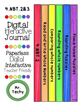 Place Value and Rounding Digital Interactive notebook for Google Classrooms