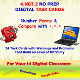 4.NBT.2 Digital Math Task Cards—NUMBER FORMS AND COMPARE