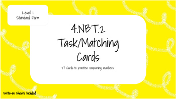 4.NBT.2 Level One Task Cards