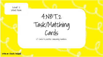 4.NBT.2 Level Two Task Cards