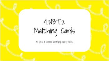 4.NBT.2 Matching Cards
