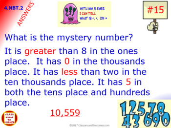 4.NBT.2 Math Interactive Test Prep – GREATER THAN, LESS THAN, EQUAL TO