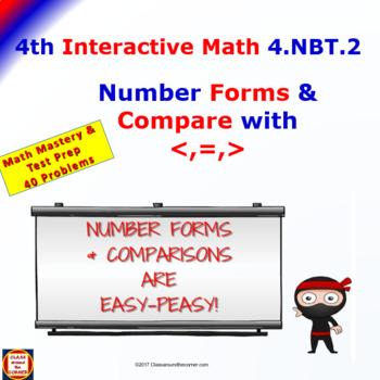 4.NBT.2 Math Interactive Test Prep – GREATER THAN, LESS TH