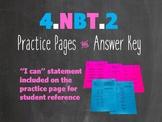 4.NBT.A.2 Practice Pages Worksheets Expanded Form, Unit Form, Comparing