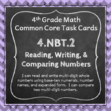 4.NBT.2 Task Cards ⭐ Read, Write, and Compare Numbers Centers