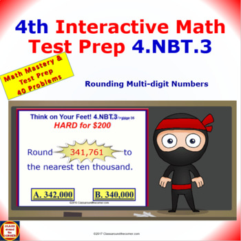 4.NBT.3 Math Interactive Test Prep – Round Up or Down