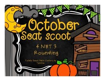 4.NBT.3 October Seat Scoot Class Activity- Rounding