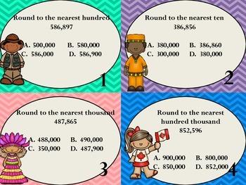 4.NBT.3 Rounding Task Cards