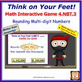 4.NBT.3 THINK ON YOUR FEET MATH! Interactive Test Prep Game—Round Multi-digits
