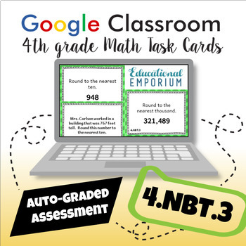 4.NBT.3 Task Cards Digital: Round Whole Numbers