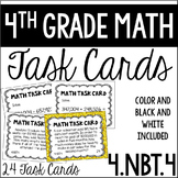 4.NBT.4 4th Grade Math Task Cards (Adding and Subtracting Whole Numbers)