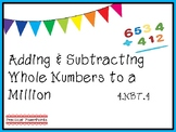 4.NBT.4 Adding & Subtracting Multi-Digit Numbers PowerPoint - EDITABLE