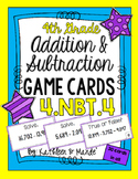 4.NBT.4 Game Cards: Multi-Digit Addition & Subtraction
