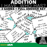 4.NBT.4 I Have Who Has Addition Game with No Prep for Math Centers