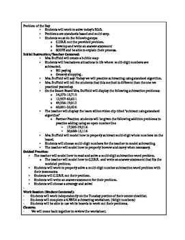 4.NBT.4 Lesson Plans 4th Grade Math - Addition and Subtraction