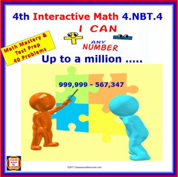 4.NBT.4 Math Animated, Interactive Test Prep – Add & Subtract