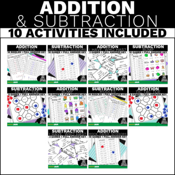 4.NBT.4  Mega Bundle Addition and Subtraction Activities and Games