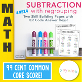 4.NBT.4 | Multi-digit Subtraction with Regrouping with QR