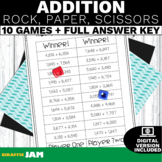 4.NBT.4 Rock, Paper, Scissors Addition Game with No Prep for Math Centers