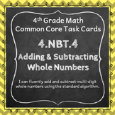 4.NBT.4 Task Cards: Adding and Subtracting Whole Numbers T