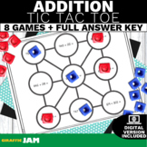 4.NBT.4 Tic Tac Toe Addition Game with No Prep for Math Centers