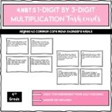 4.NBT.5 3 Digit by 1 Digit Multiplication Task Cards