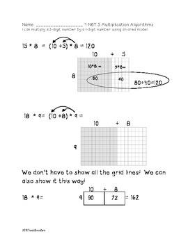4.NBT.5 Area Model Multiplication