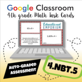 ⭐ SELF-GRADING ⭐ 4.NBT.5 Task Cards ⭐ Multiply Whole Numbers