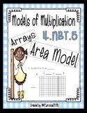 4.NBT.5 Models of Multiplication: Arrays and Area Model