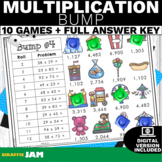 4.NBT.5 Multiplication BUMP!-Math Games! No Prep! Common C