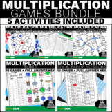 4.NBT.5 Multiplication Games and Activities Bundle for Mat