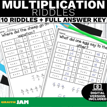 Math jokes teaching resources teachers pay teachers nbt5 multiplication activity or game with no prep for math centers fandeluxe Image collections