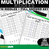 4.NBT.5 Multiplication Riddles Game with No Prep for Math Centers