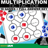4.NBT.5 Multiplication Tic Tac Toe Game with No Prep for Math Centers